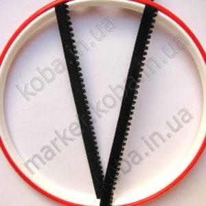 Тесьма резинка Тесьма резинка черного цвета с кружевной окантовкой