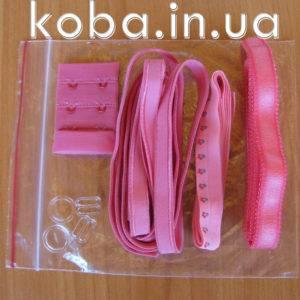 Фурнитура для бюстгальтера в розово-красных тонах