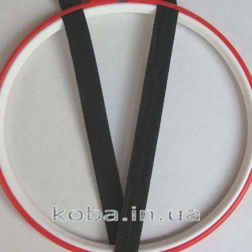Эластичная бейка черного цвета