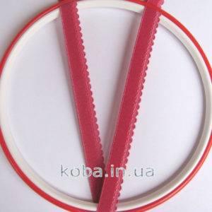 Тесьма резинка рубиново-красного цвета