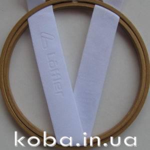 Резинка сатиновая 30 мм белого цвета
