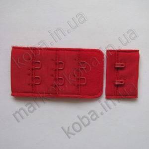 Застежка для бюстгальтера красного алого цвета 3 см