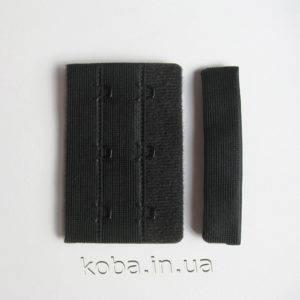 Застежка для бюстгальтера черного цвета 6,5см