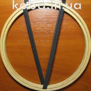 Тесьма резинка сетка черного цвета, шириной 8 мм.