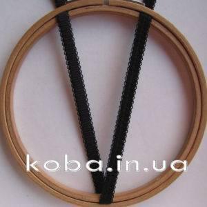 Тесьма резинка черного цвета, шириной 8 мм
