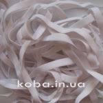 Тесьма резинка велюровая белого цвета, шириной 10 мм