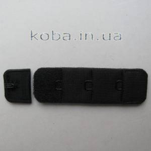 Застежка для бюстгальтера черного цвета 1,8см