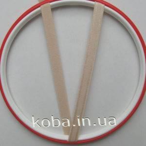Бретели бежевого цвета шириной 10 мм