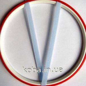 Тесьма резинка голубого цвета 8 мм
