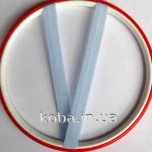 Эластичная бейка голубого цвета 12 мм